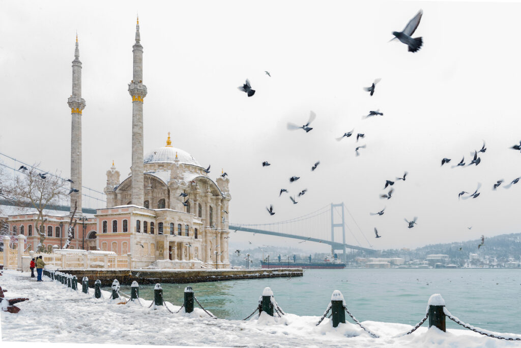 Istanbul, Turkey, during the winter time.