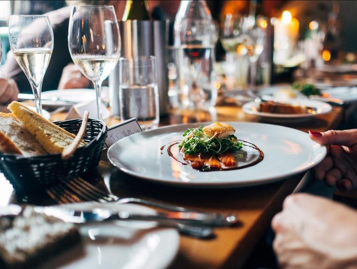 Italian style food in restaurant