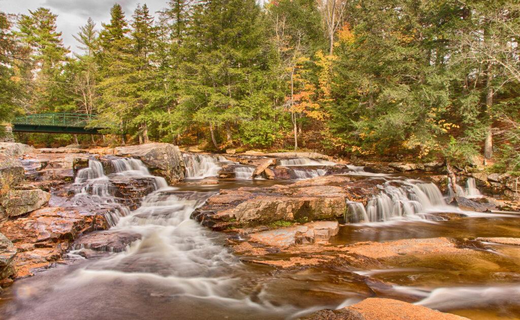 Jackson Falls in Jackson, New Hampshire.