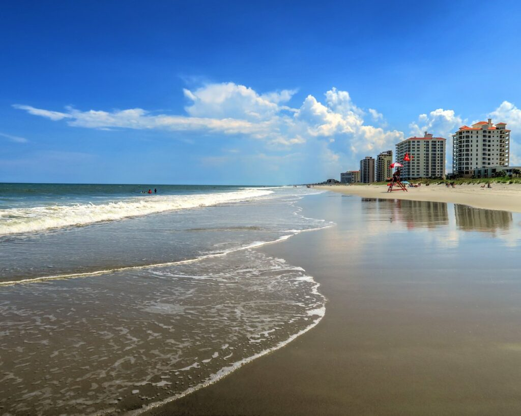 Jacksonville Beach in Florida.