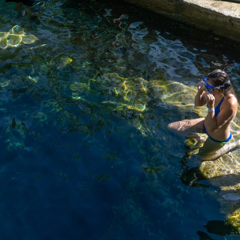 Jacob's Well, a popular swimming hole in Texas.
