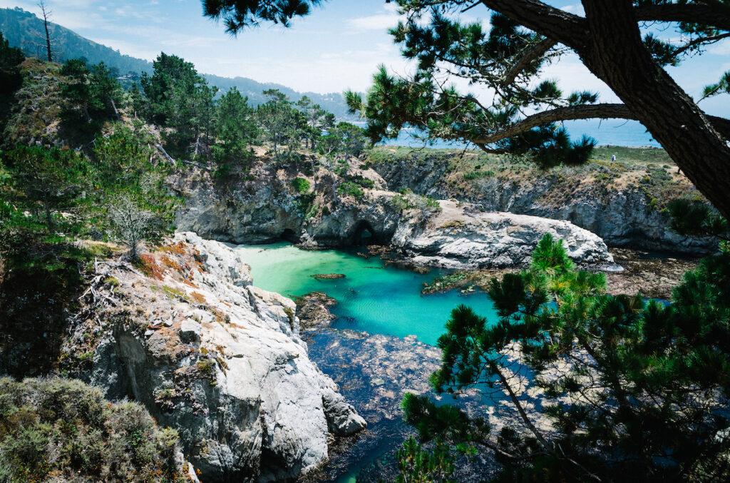 Jade Cove Trail views in Big Sur, California.