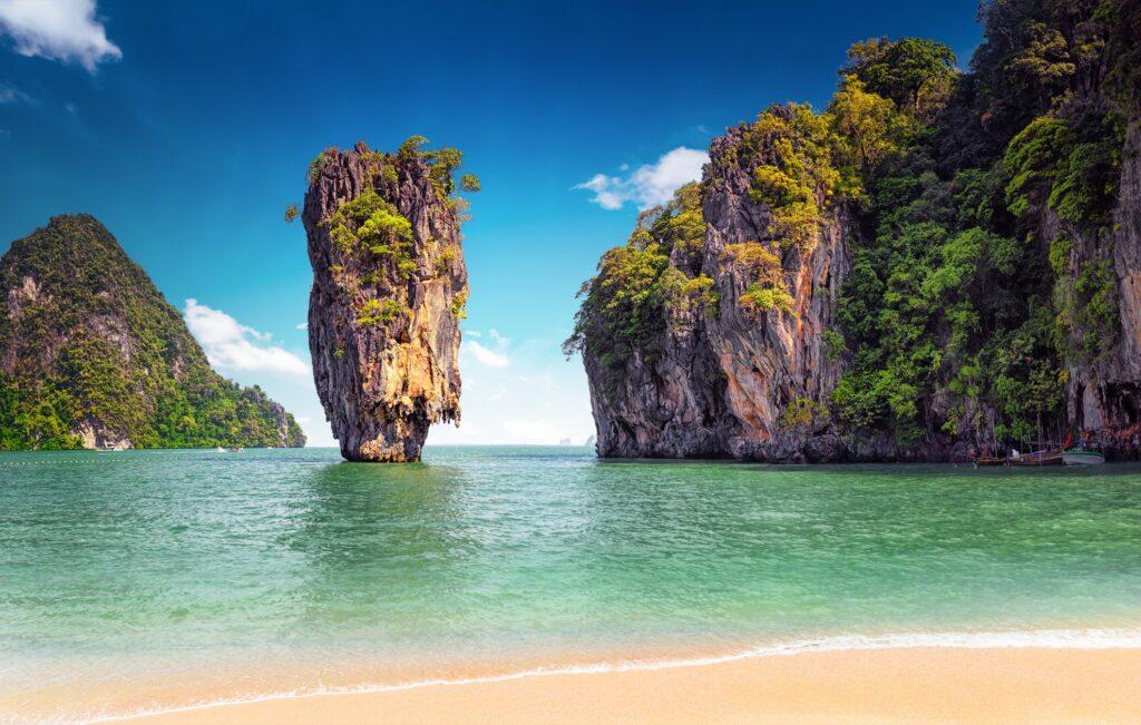 James Bond Island in Thailand.