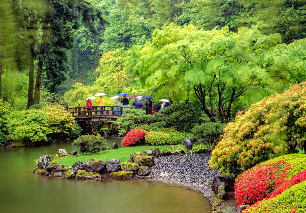 Japanese gardens in Portland.