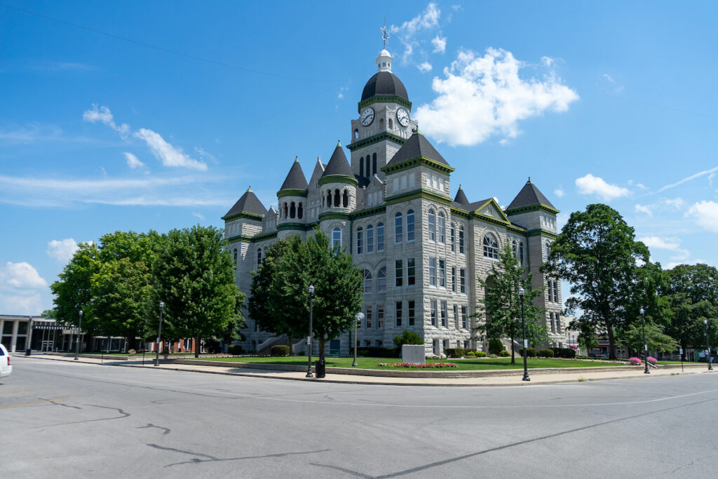 Jasper County Courthouse in Carthage, Missouri.
