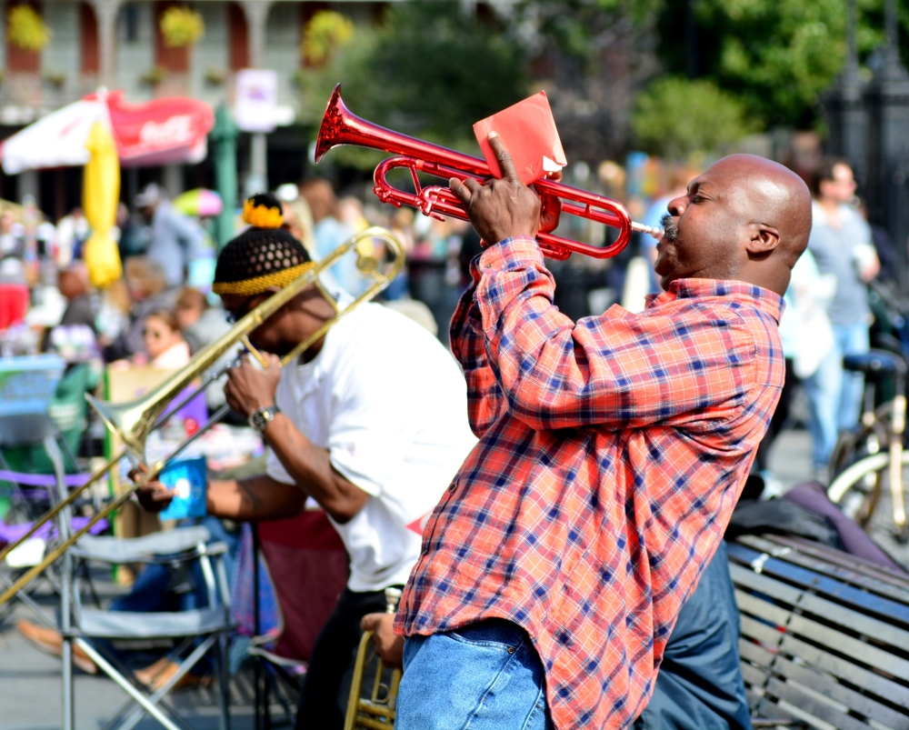 jazz on the street in new orleans