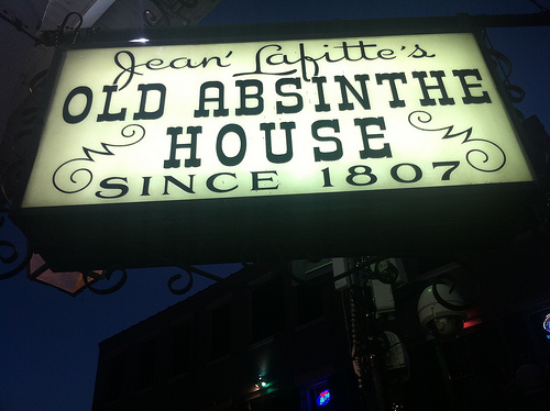Jean Lafitte's Old Absinthe House sign