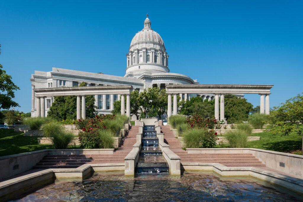 Jefferson City, the Missouri State Capital.