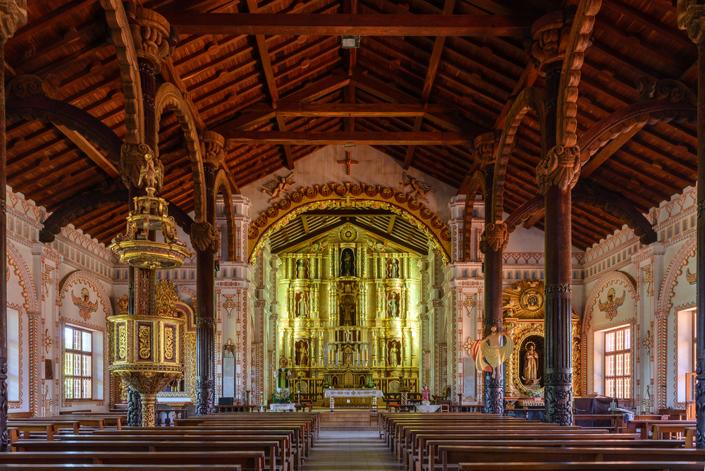 Jesuit Mission church in Bolivia