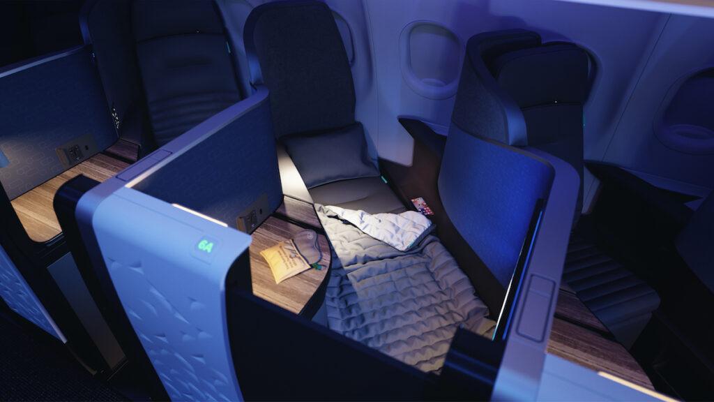 JetBlue's new Mint seats.