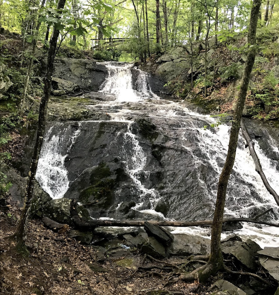 Jewell Falls in Maine's Fore River Sanctuary.