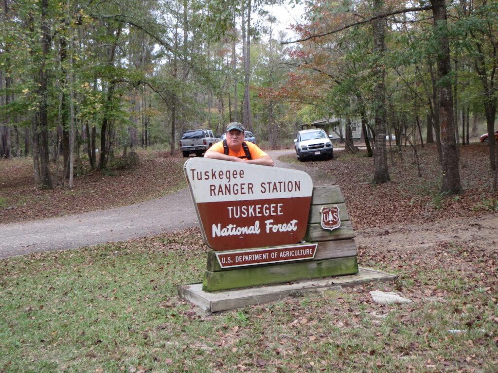 Joe Cuhaj at Tuskegee National Forest.