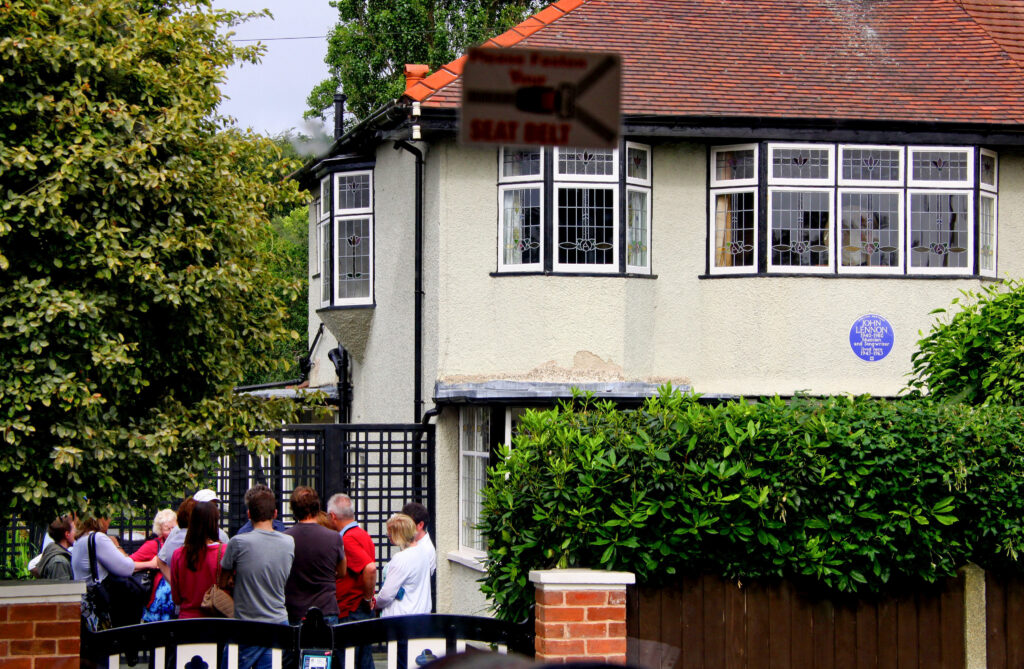 John Lennon's childhood home.