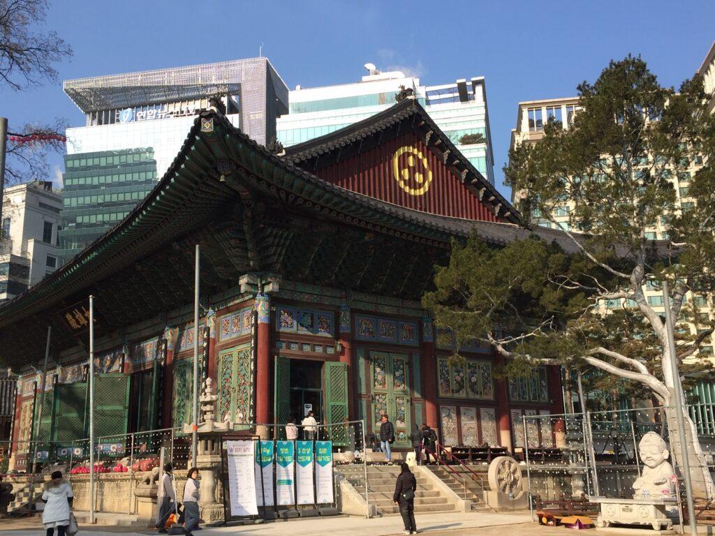 Jongyesa Temple in Seoul.