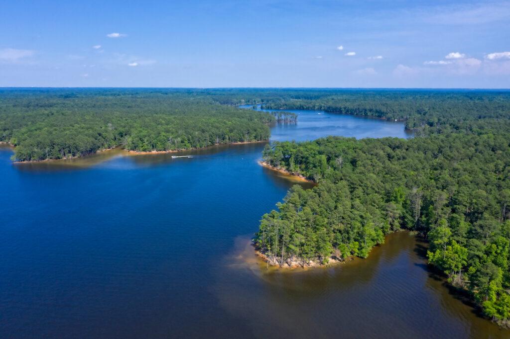 Jordan Lake State Recreation Area in Apex, North Carolina.