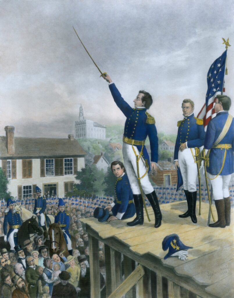 Joseph Smith as Lieutenant General of the Nauvoo Legion.