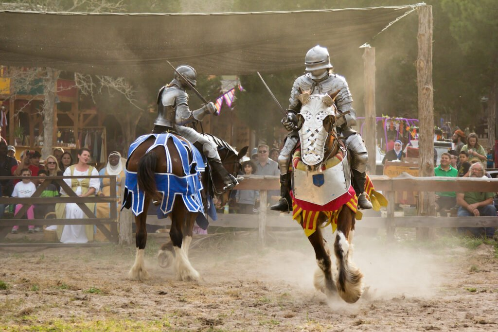 Jousting at the Sherwood Forest Faire in Texas.