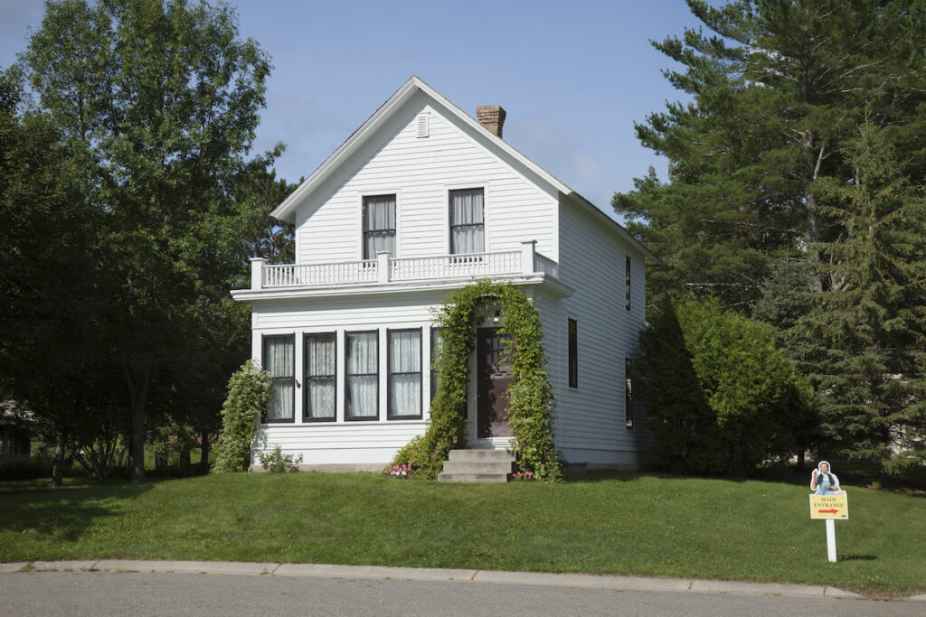 Judy Garland's childhood home in Grand Rapids, Minnesota.