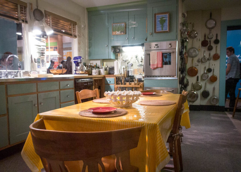 Julia Child's kitchen in the National Museum of American History.