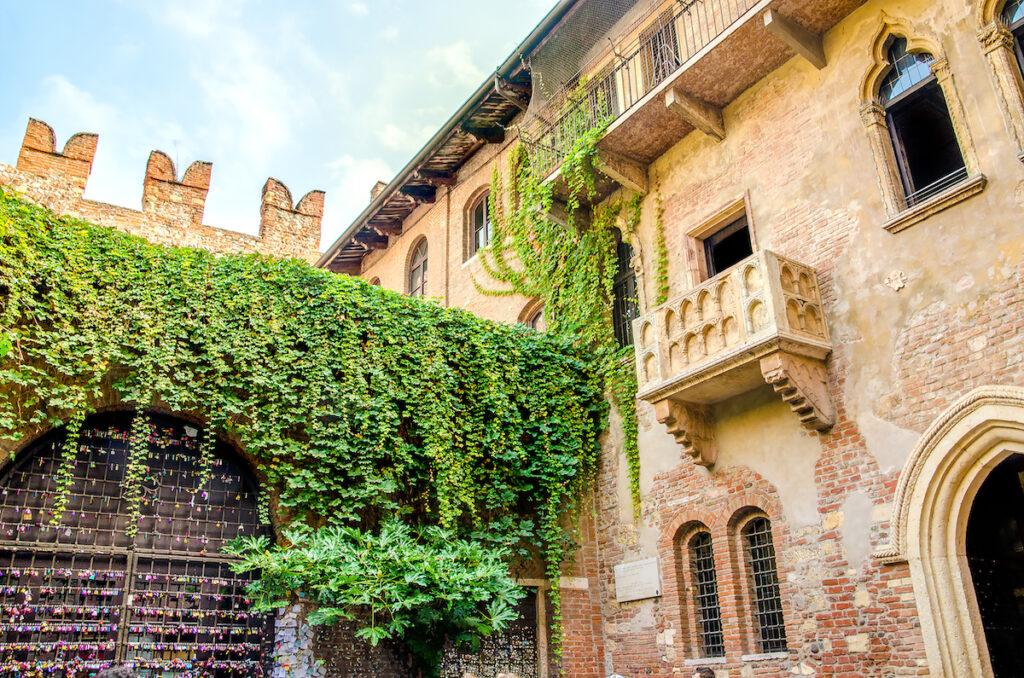 Juliet's Balcony in Verona, Italy.