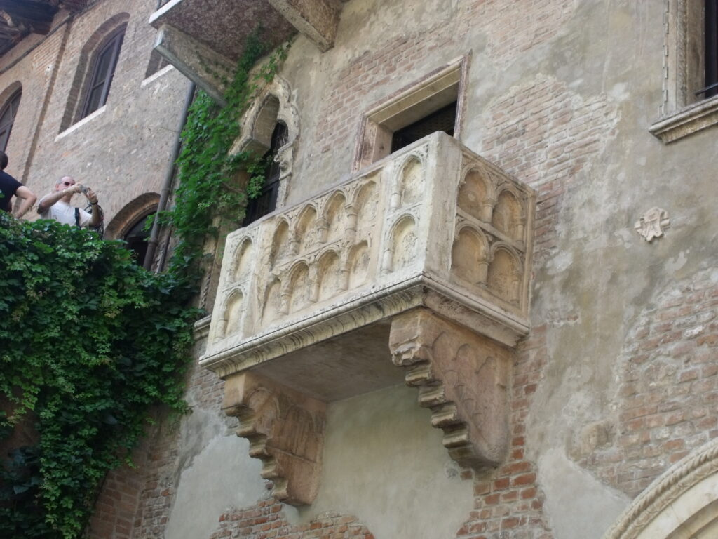 Juliet's balcony, Verona.