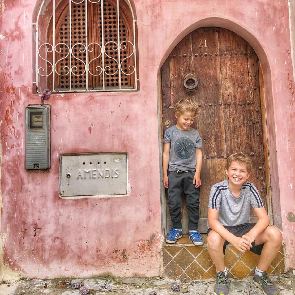 Justin Zackham's children, Finn and Cole.