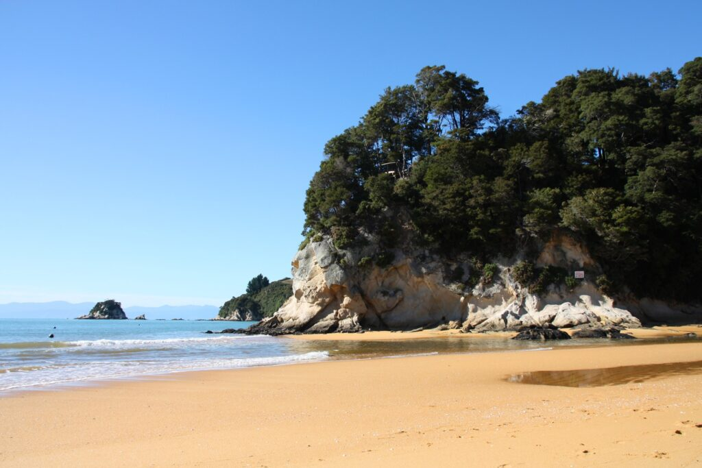 Kaiteriteri Beach in New Zealand.