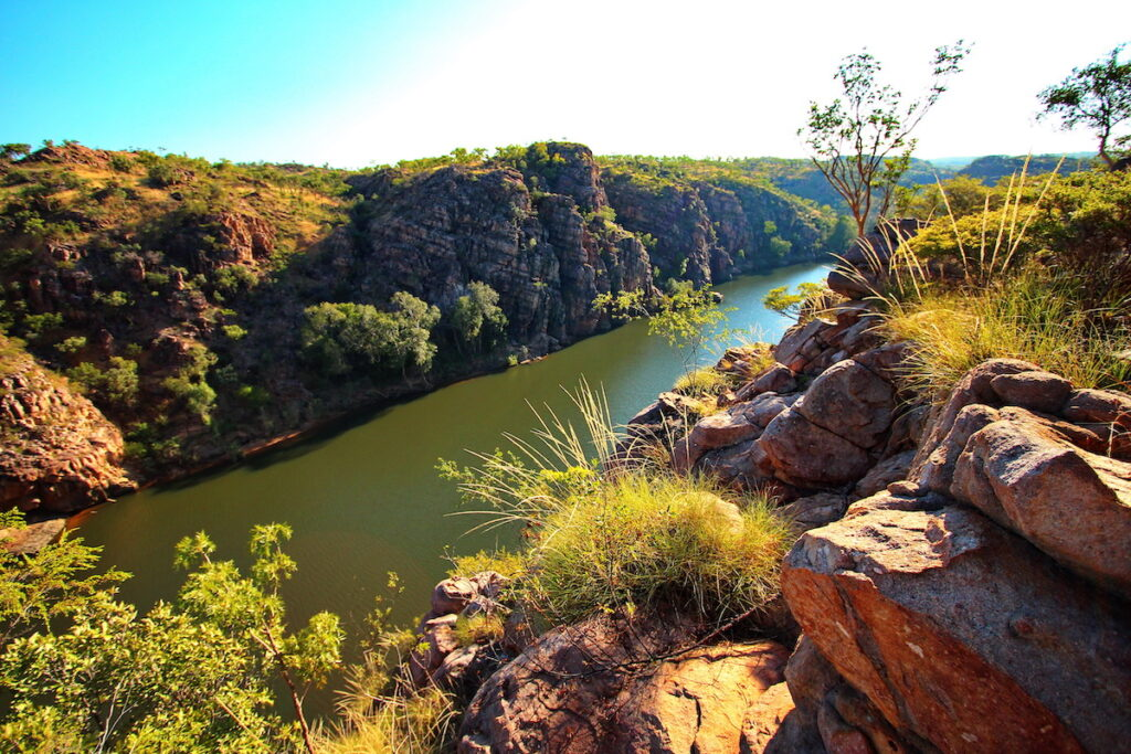Katherine Gorge in Australia, a whistle stop on The Ghan.