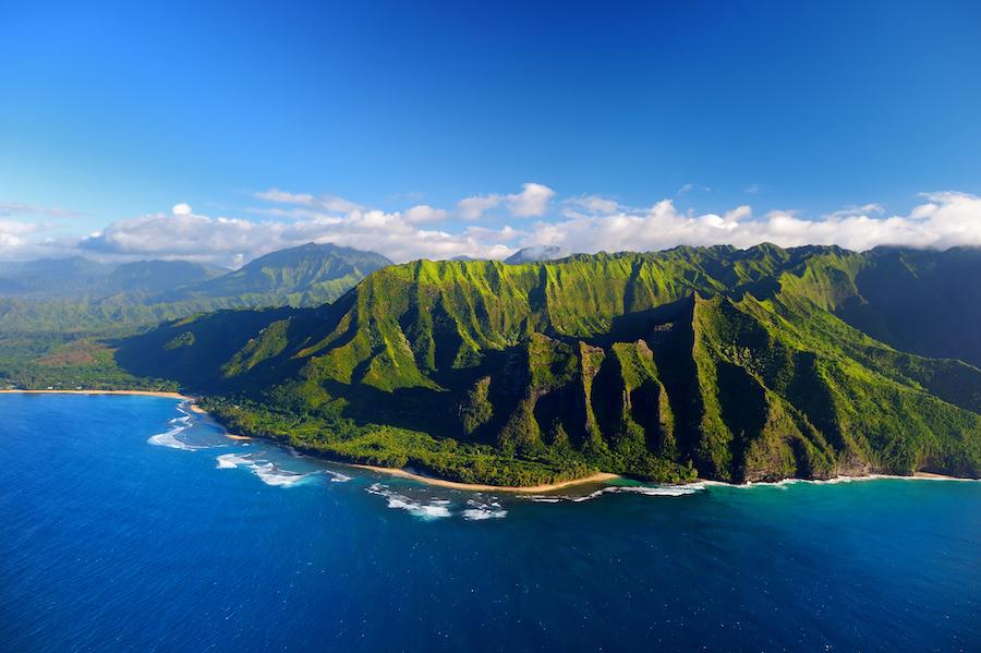 Kauai's Napali Coast in Hawaii.