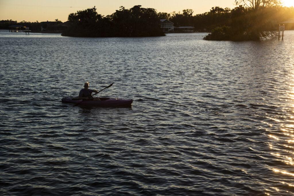 Kayak on Kings Bay, Crystal River.