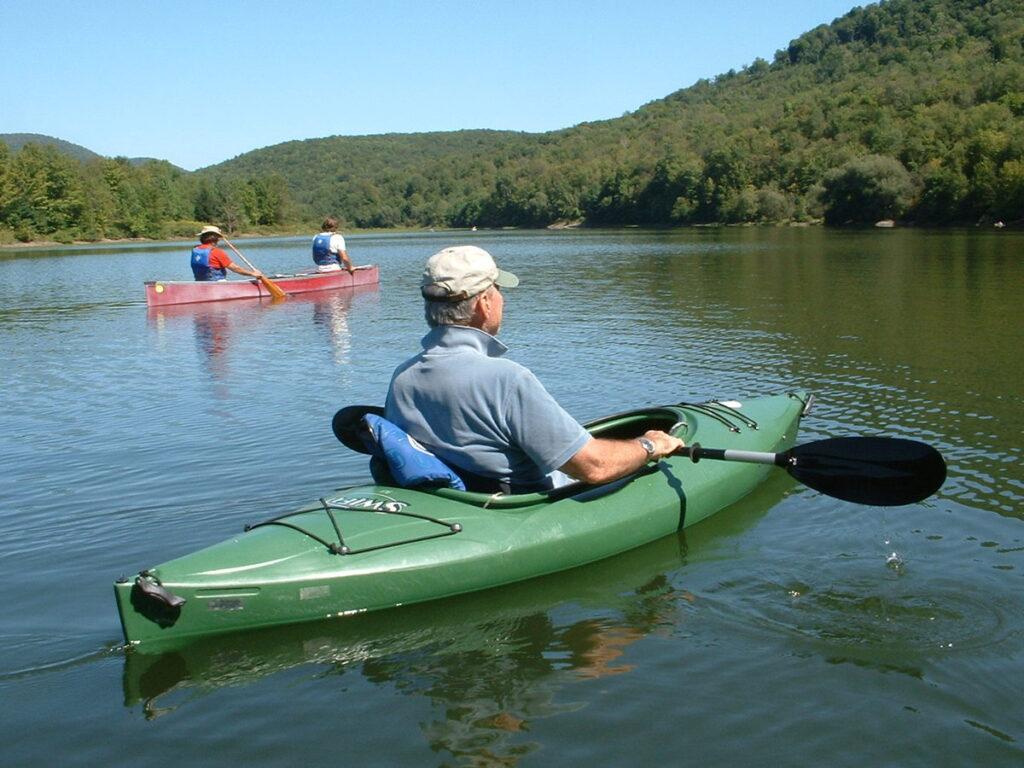 Kayaking in Margaretville, New York.
