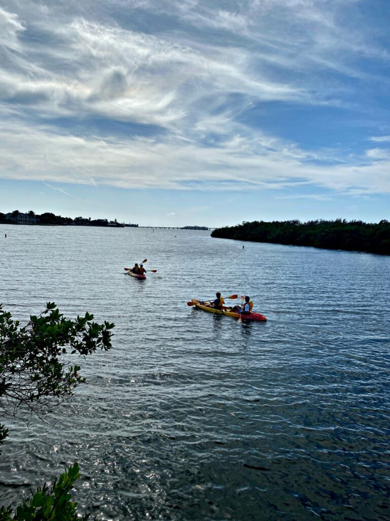 Kayaking in the Indian River Lagoon.