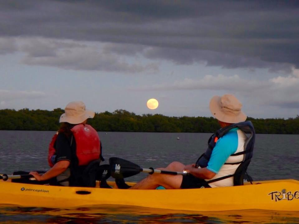 Kayaking off the coast of Florida's Pine Island.