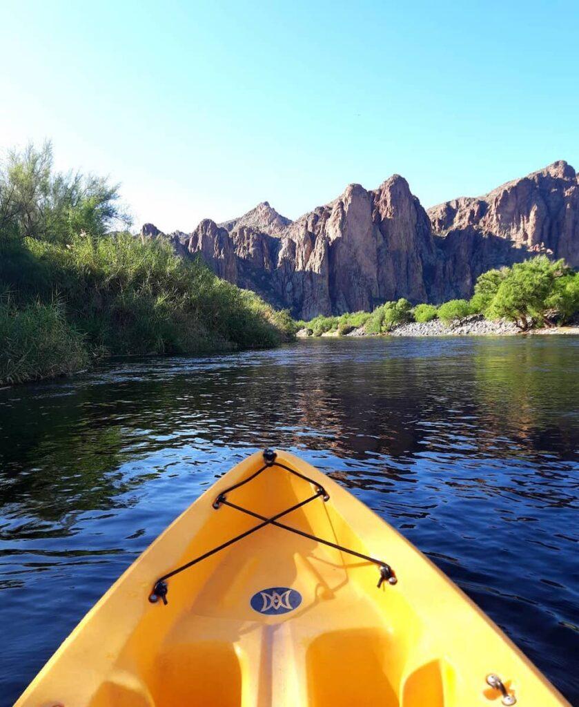 Kayaking on the Salt River.