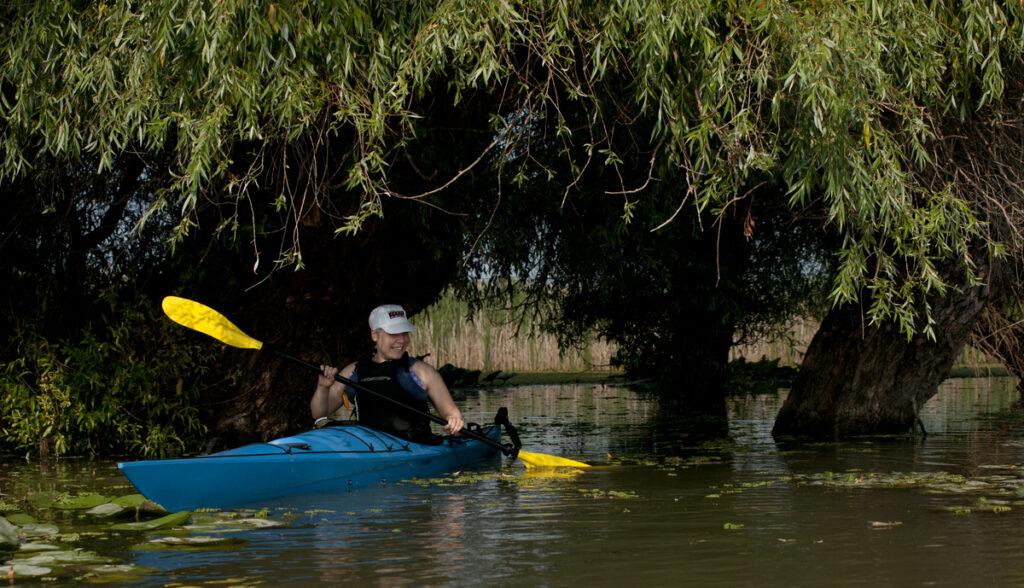 Kayaking the Danube.