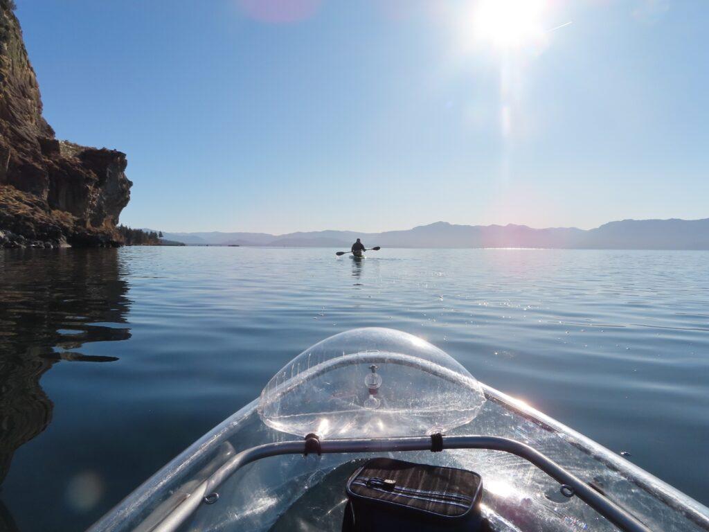 Kayaking tour of South Lake Tahoe.