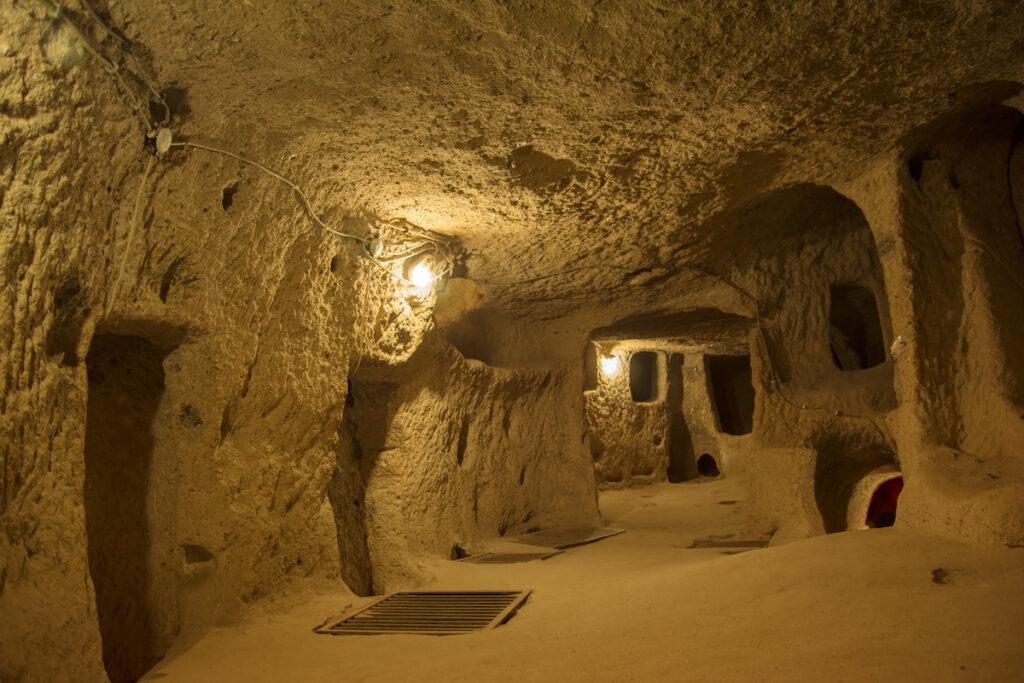 Kaymakli Underground City in Cappadocia, Turkey.
