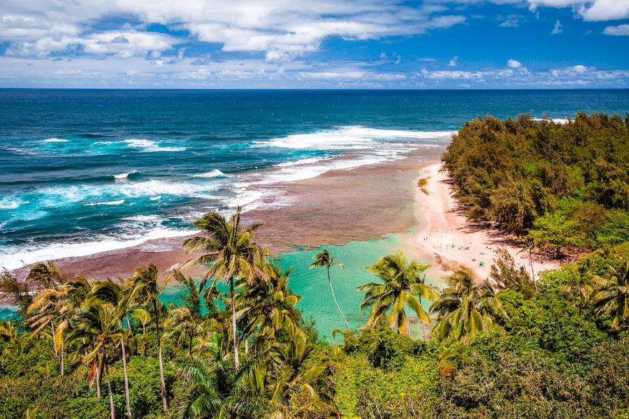 Ke'e Beach on the island of Kauai.