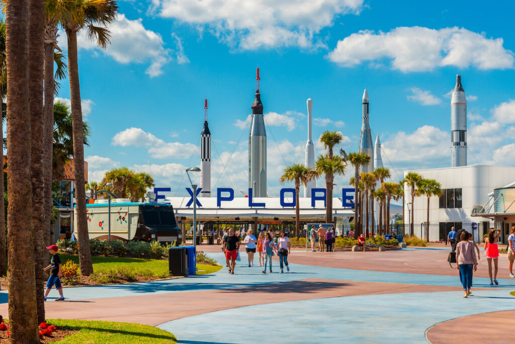 Kennedy Space Center Visitor Complex, Cape Canaveral, Florida.