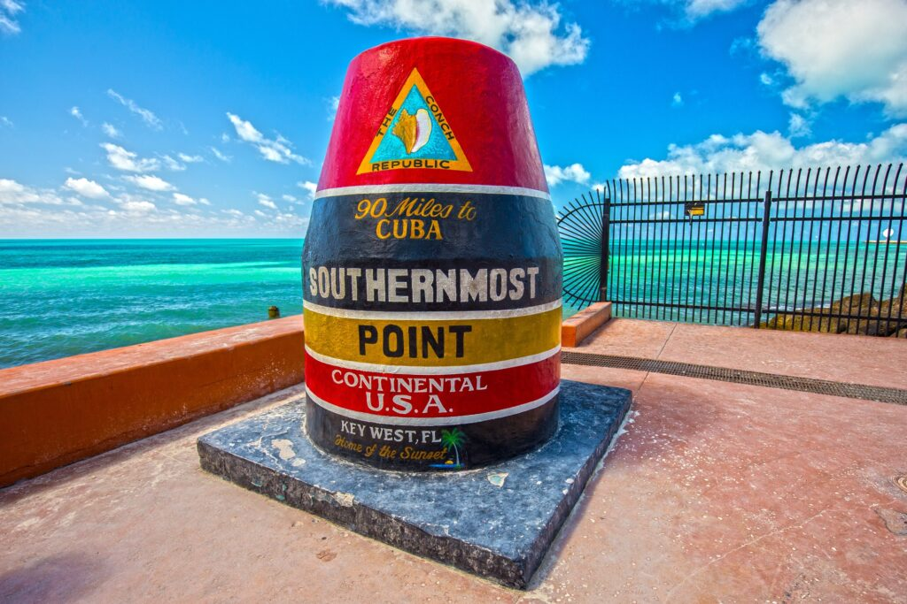 Key West is the Southernmost Point of the US.