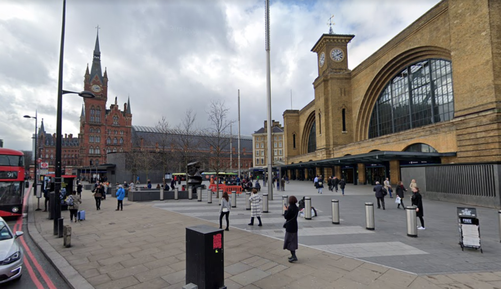 King's Cross St. Pancras station in London.