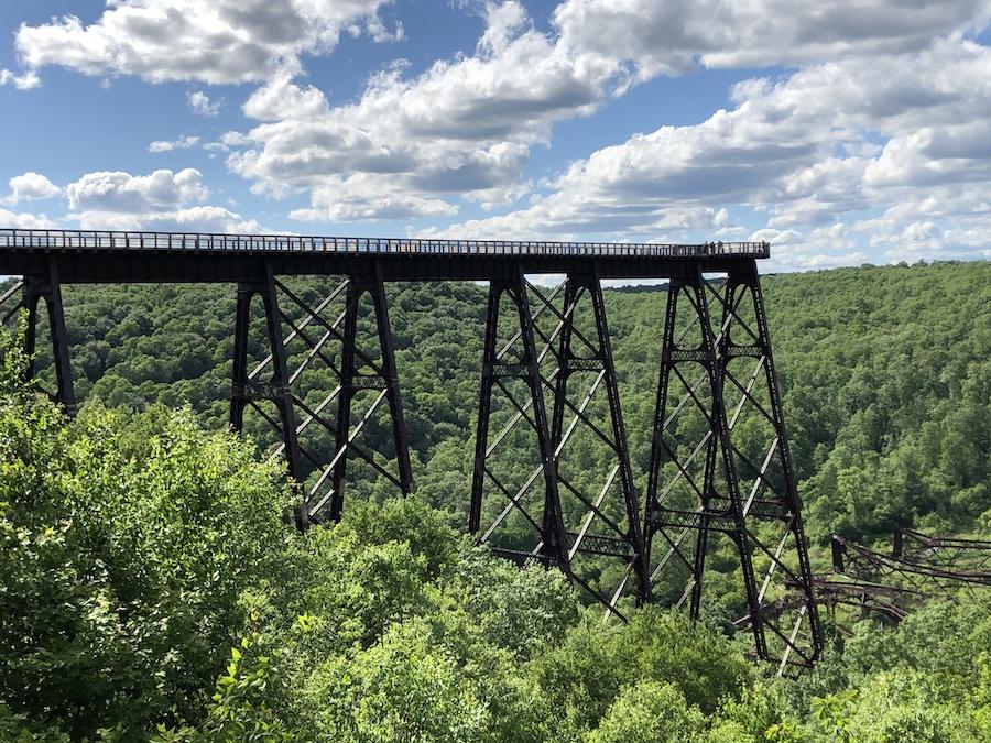 Kinzua Bridge State Park in western Pennsylvania.