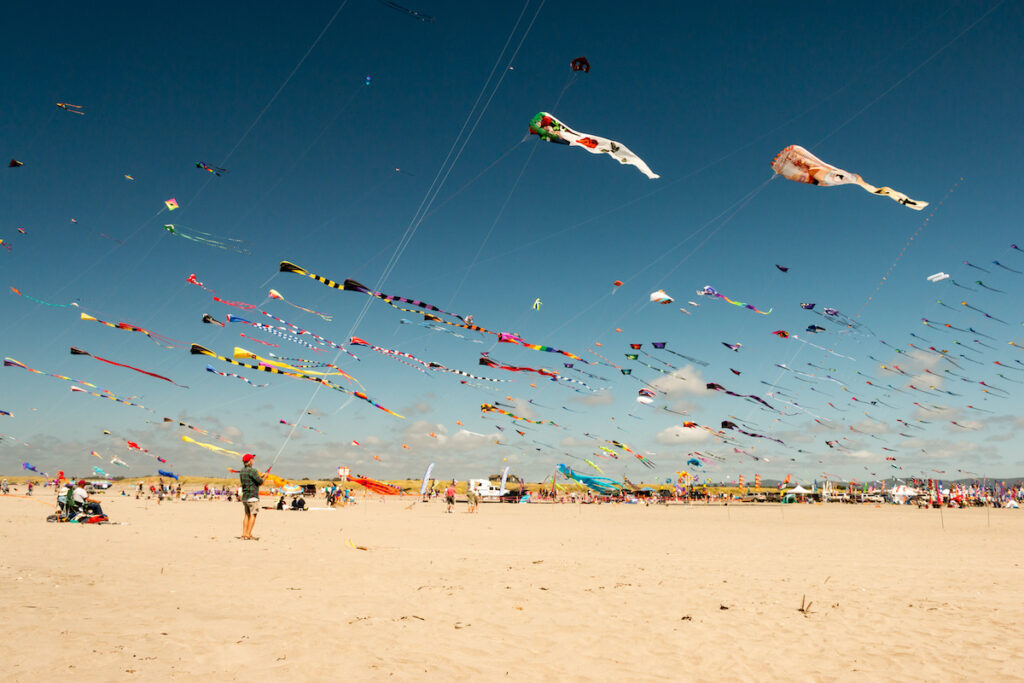 Kite festival in Long Beach, Washington.