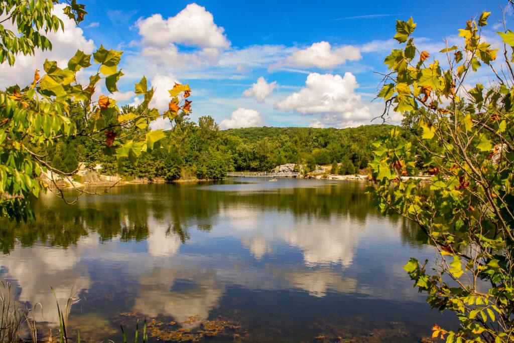 Klondike Lake in Augusta, Missouri.