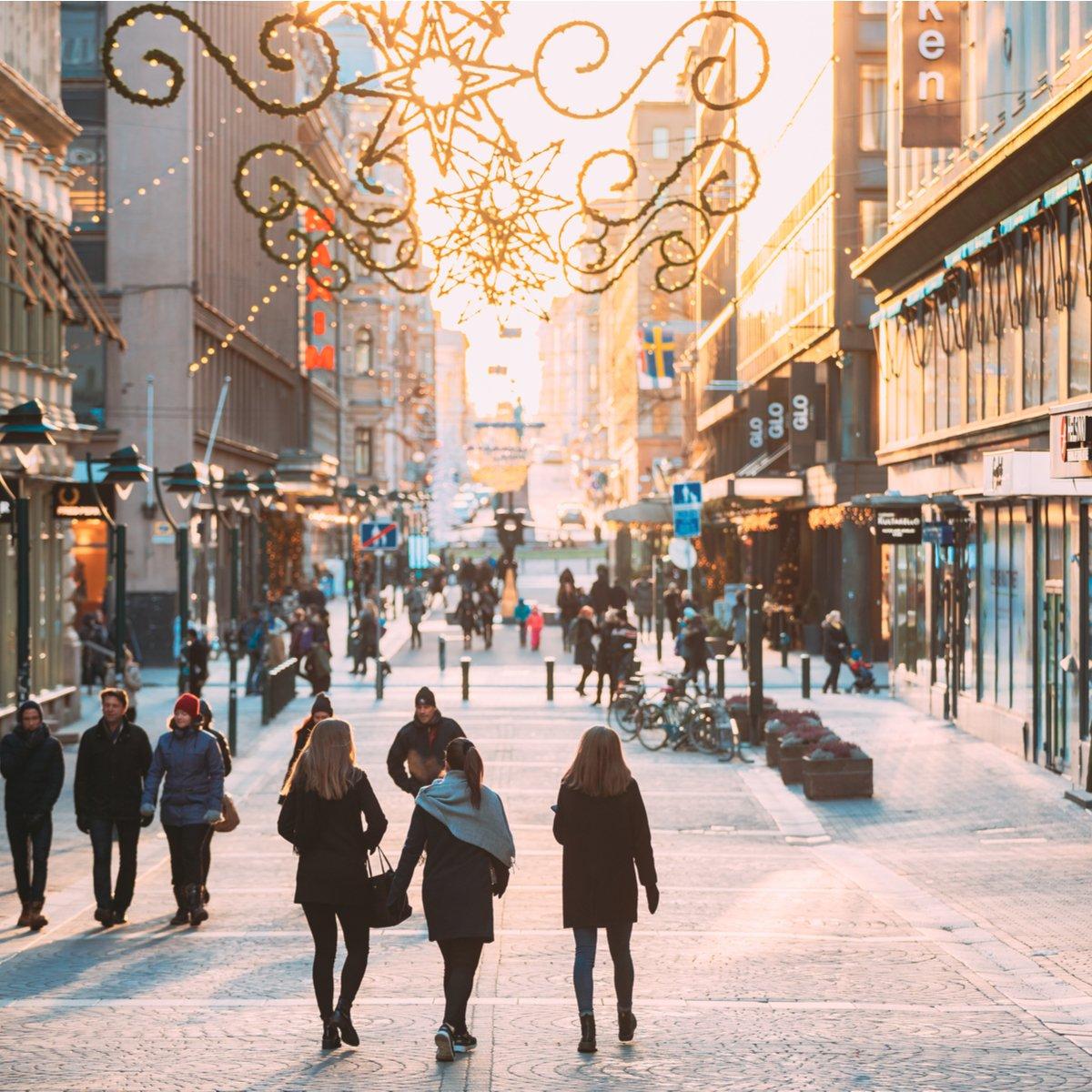 Kluuvikatu Street, Helsinki, Finland.