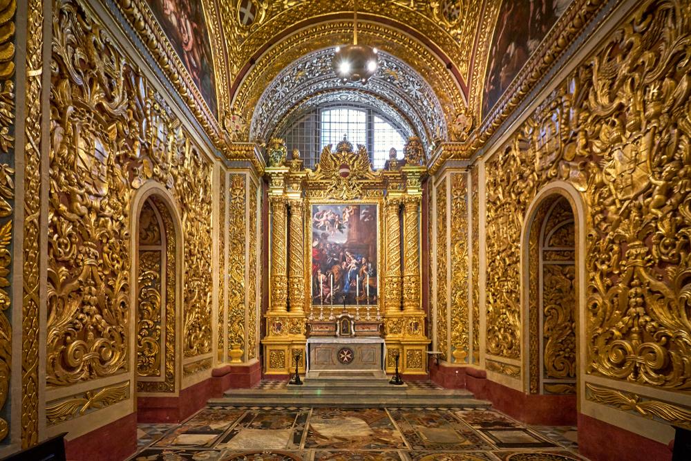 knights chapel saint john's cathedral malta