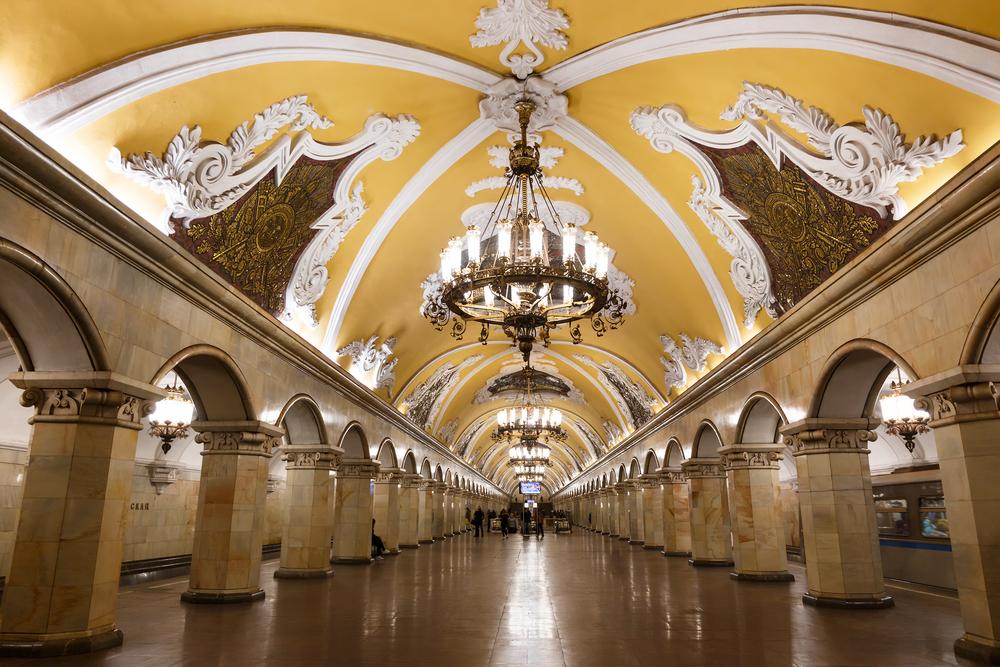 Komsomolskaya station in Moscow