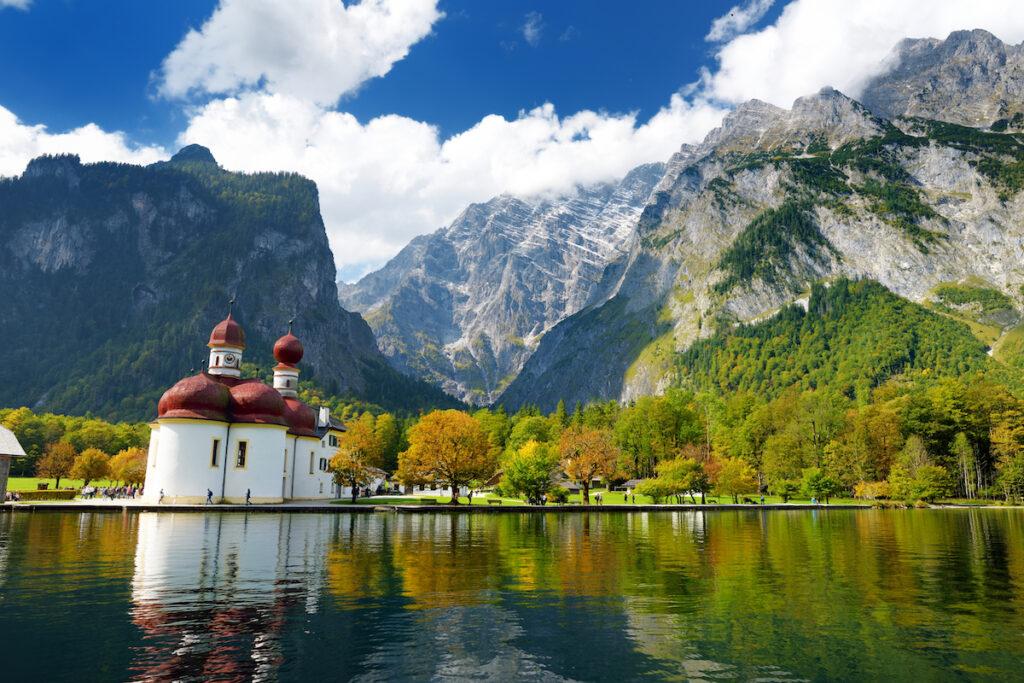 Konigssee, a lake in Bavaria, Germany.