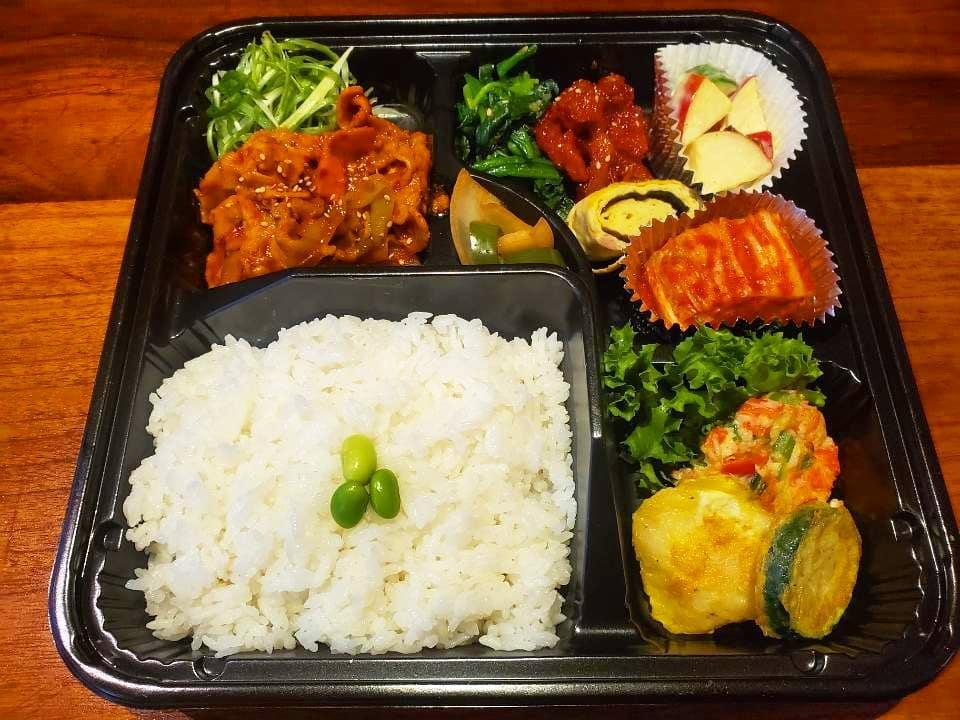 Korean food from The Kunjip.