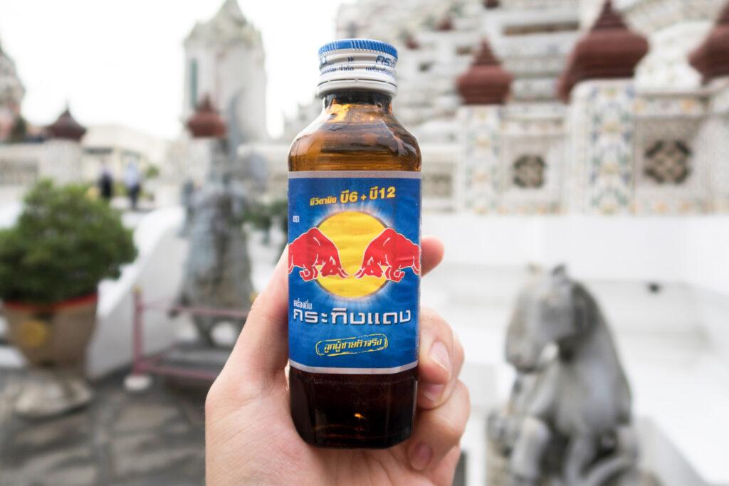 Krating Daeng, the Thai version of Red Bull.